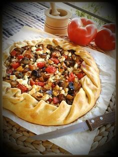 Vegan Vegetarian, Vegetarian Recipes, Cooking Recipes, Greek Dishes, Greek Recipes, Vegetable Pizza, Food To Make, Food And Drink, Lunch