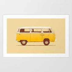 Buy Yellow Van Art Print by Speakerine / Florent Bodart. Worldwide shipping available at Society6.com. Just one of millions of high quality products available.