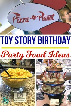 Toy Story Party Food Ideas - Sarah in the Suburbs Toy Story Food, Toy Story Theme, Toy Story Party, Toy Story Birthday, Birthday Party Menu, Birthday Ideas, Birthday Blast, August Birthday, Third Birthday
