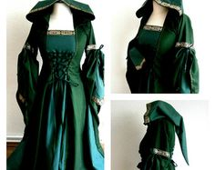 Medieval Dress Renaissance Gown LARP and by CadwaladrCostumes