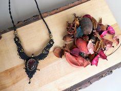 macrame necklace,handmade necklace,macrame jewellery,bohemian jewellery,festiva ljewelry,bohemian necklace,boho fashion,amethyst necklace
