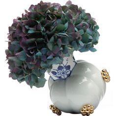 Moooi Delft Blue 10-2 Vase (€450) ❤ liked on Polyvore featuring home, home decor, vases, moooi, delft blue vase, colored vases and delft vase