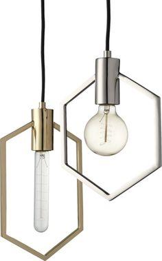 geometric brass pendant light | CB2                                                                                                                                                      More