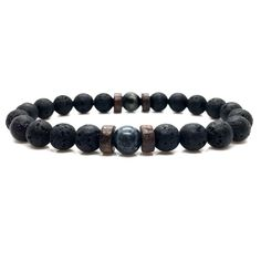 Make a wish and then make magic happen. Designed with meaning and intent, this beaded bracelet features a mix of black lava stone beads and moonstone beads. The porous nature of the lava stone allows the absorption of essential oils for personal aromatherapy, whereas the moonstone beads inspire inner strength.  FREE Shipping Worldwide