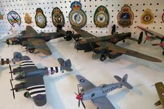 On the upper left is my new Corgi diecast model of a Handley Page Halifax Mk VIII bomber. It represents Vicky, the Vicious Virgin of 408 Squadron, Royal Canadian Air Force. To the right is an Avro Lancaster - VR@A also of the Royal Canadian Air Force. #HalifaxAuthor #rcaf #royalcanadianairforce #Halifax #avrolancaster #bomber #handleypagehalifax #secondworldwar #worldwarii #lancaster #writer #amwriting #author #daniellloydlittle