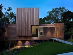 Wood covered house