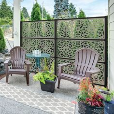 78 Ideas Of Modern Garden Fence Designs For Summer Ideas - Home/Decor/Diy/Design Privacy Screen Outdoor, Backyard Privacy, Privacy Panels, Decorative Screen Panels, Spray Paint Furniture, Outdoor Lighting, Outdoor Decor, Diy Deck, Building A Deck