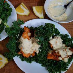Chicken Caesar Kale Wraps