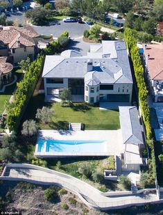 Finished business: Kim and Kanye's fully finished Bel Air mansion which they bought in 2013 for a cool $9 million
