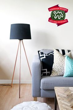 Make this Homemade Holiday Gift: Copper Tripod Lamp — HOMEMADE HOLIDAY GIFT IDEA EXCHANGE: PROJECT #9