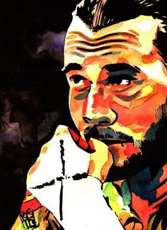 CM Punk painting by Rob Schamberger