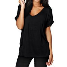 Summer Women Large Size T-shirt 2017 Fashion Simple Solid Color Tee Shirt Casual V Neck Short Sleeve T-shirt Plus Size 5XL Tee(China (Mainland))