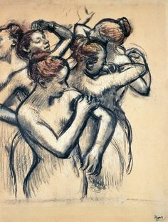 Edgar Degas: Dancers, Nude Study, 1899. ...   I've never seen another impressionist that could capture a woman's spirit like Degas.
