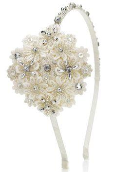 Diadema flores a crochet