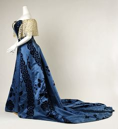 Evening dress Design House: House of Worth (French, 1858–1956) Date: 1898–1900 Culture: French Medium: silk, cotton