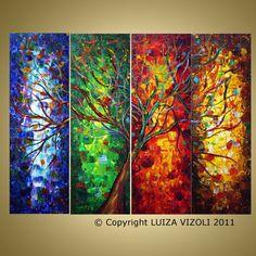 SEASONS OF LIGHT Original Modern Abstract Palette by LUIZAVIZOLI, $425.00