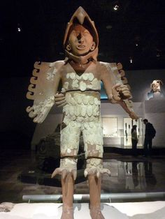 Ancient Aztec sculpture of an Eagle Warrior – the most elite of all Aztec fighters.