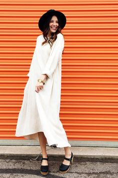 Linen Dress in Natural | ROOLEE