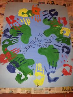 Students hand prints for PYP Exhibition- 2012-13!!