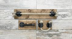 Rope Bathroom Set Each item is also available individually. Please check the shop sections. https://www.etsy.com/shop/Lightrooom This listing include three items: rope bath size towel holder, TP and rope hand towel ring. It`s made out of very soft cotton rope and pipes with a color