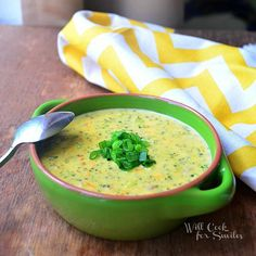 Broccoli Bacon Cheese Soup um, yes please!