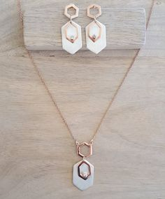 Rose gold plated on sterling silver long by AtelierAdelaideFR