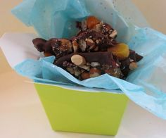 Chocolate bark  - ok, it doesn't require baking but it is sweet and easy. Perfect for kids as is or adapted to take out the spice.
