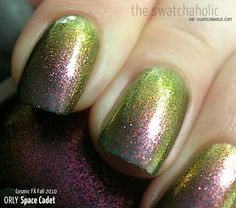 Orly Space Cadet nail polish goes from purple to greeny-gold depending on the angle