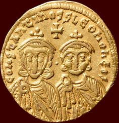Catawiki online auction house: Byzantine Empire - AU solidus of Constantine V and Leo IV(741-775). Gold!
