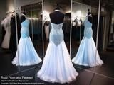 Turquoise Halter Mermaid Prom Dress - Rsvp EC - Long Gown - Rsvp Prom and Pageant Atlanta, Georgia GA - 3