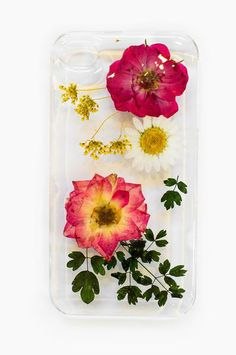 iPhone case with real flowers