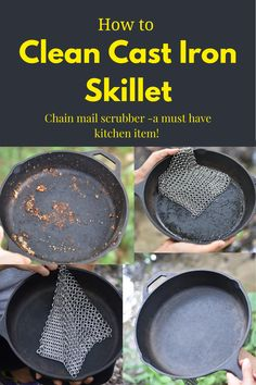 Rusty Cast Iron Skillet, Cast Iron Skillet Cooking, Cast Iron Frying Pan, Iron Skillet Recipes, Cast Iron Pot, Cast Iron Stove, Cast Iron Recipes, Fire Cooking, Cast Iron Cookware