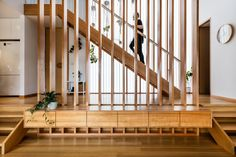 Gallery of Midway Point House / Keith Westbrook + Cumulus Studio - 15 Timber Battens, Timber Screens, Midway Point, Window Wrap, Curtains With Blinds, Cladding, Interior Architecture, Interior Design, Stairs