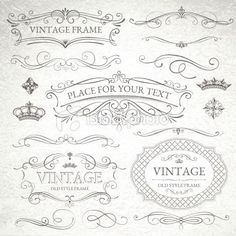 vintage frames Royalty Free Stock Vector Art Illustration:
