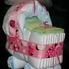 shower gifts, shower centerpieces, diaper babi, diaper cakes, baby girls