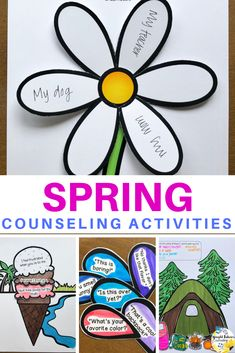 Countdown to Spring Break - School Counseling Spring Activity Pack Elementary School Counselor, School Counseling, Elementary Schools, Career Counseling, Social Emotional Learning, Social Skills, Spring Activities, Work Activities, Spring School