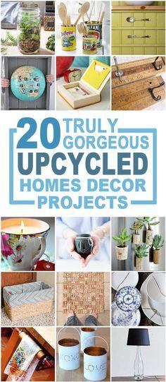 truly gorgeous upcycled home Décor Items, recycled crafts, upcycled crafts, make over decor, recycled home decor items via @brendidblog