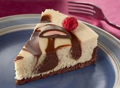 Try this Raspberry Meltaway Swirled Cheesecake recipe, made with HERSHEY& products. Enjoyable baking recipes from HERSHEY& Kitchens. Fall Dessert Recipes, Pie Dessert, Fall Desserts, Dessert Ideas, Yummy Treats, Delicious Desserts, Yummy Food, Tasty, Hershey Recipes