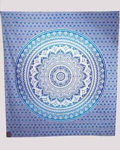 Mandala Ombre Blue   folk Cultural Gpsy throw Bedspreads Wall Tapestry