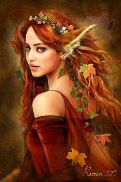 Elfe à la Robe Rouge