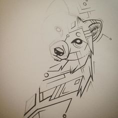 WIP wolfy. #wolf #geometric #tattoodesign #drawing #illustration