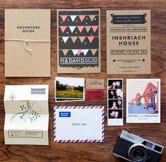 Invitation de mariage - épinglé par La carte au trésor, boutique Etsy/Montréal de cartes faites à la main