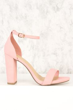 1110f93a25c Pink Open Toe Single Sole Chunky Heels Nubuck Faux Leather. Quinceanera  ShoesQuinceanera IdeasColorful HeelsHigh Heels For ...