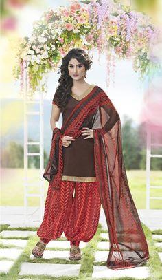 Buy Enticing Brown Patiala Salwar Kameez online at  https://www.a1designerwear.com/enticing-brown-patiala-salwar-kameez  Price: $22.38 USD