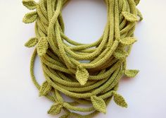 Knitted+Tube+scarf+in+olive+green+by+purpletube+on+Etsy,+$35.00