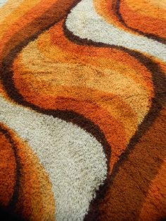 No fashionable 70's house would be complete without this orange and brown colour scheme.