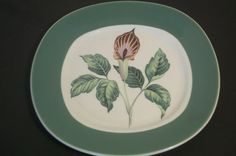 Conversation Plate with Orchid FlowerVintage by Castawayacres