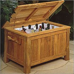 Teak Reims Refreshments Chest by Barlow Tyrie