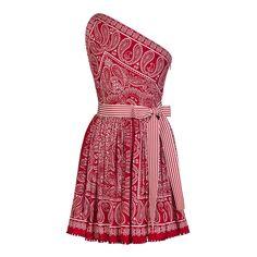 Lena Hoschek Foulard Red Bandana Dress