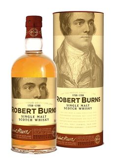 Robert Burns Single Malt Scotch Whisky. Had to pin because of possible family relations